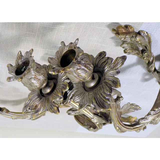 Pair of finely cast candle sconces done in a classic French style on a large scale. Made by Global Views these have an...