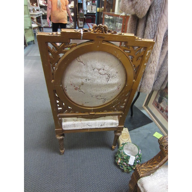 Antique French Giltwood Fauteuil Chairs - A Pair - Image 5 of 9