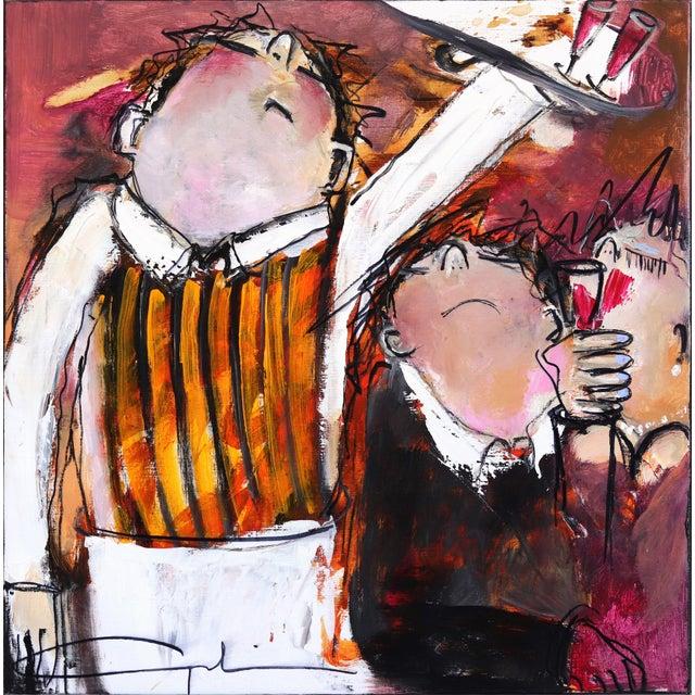 """One More Wine"" Original Artwork by Gerdine Duijsens For Sale - Image 9 of 9"