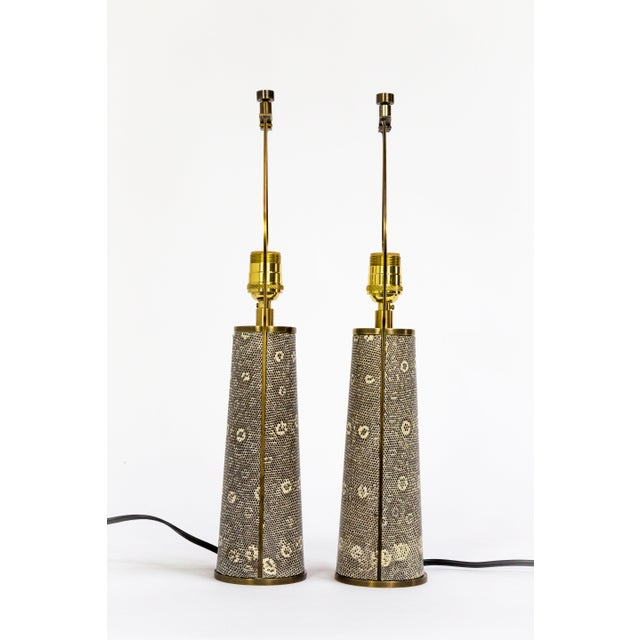Bronze Lizard Skin & Bronze Borrego Lamps by Tuell + Reynolds - a Pair For Sale - Image 7 of 12