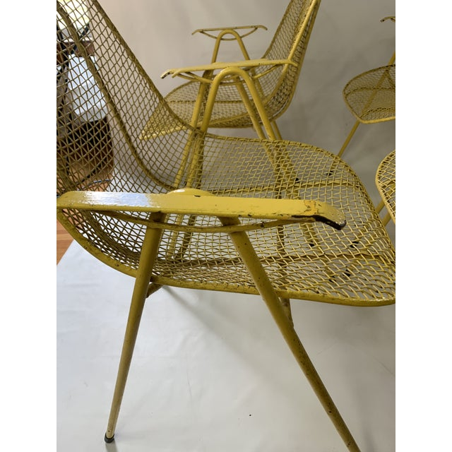 Metal Russell Woodard Mid-Century Modern Sculptura Outdoor Dining Chairs - Set of 6 For Sale - Image 7 of 13