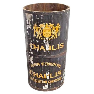 "Antique French ""Chablis"" Wine Cask"