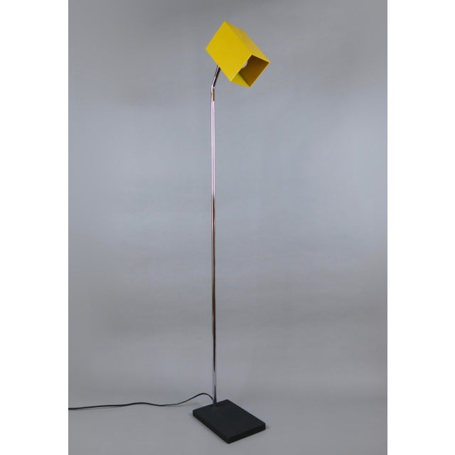 Robert Sonneman for Kovacs Yellow Cube Floor Lamp | Chairish