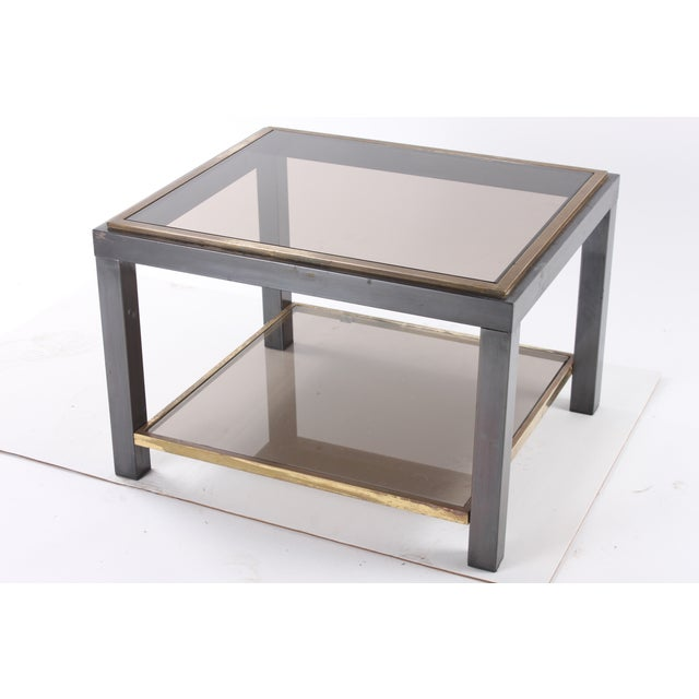 1970s Glass Top End Table - Image 3 of 5