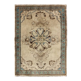 Vintage Mid-Century Persian Tabriz Rug - 2′8″ × 3′10″ For Sale