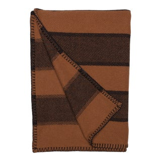 Emu Parri Lambswool Angora Throw, Brown Stripe For Sale