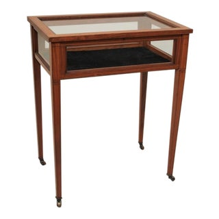Antique English Satinwood Display Table, circa 1890 For Sale