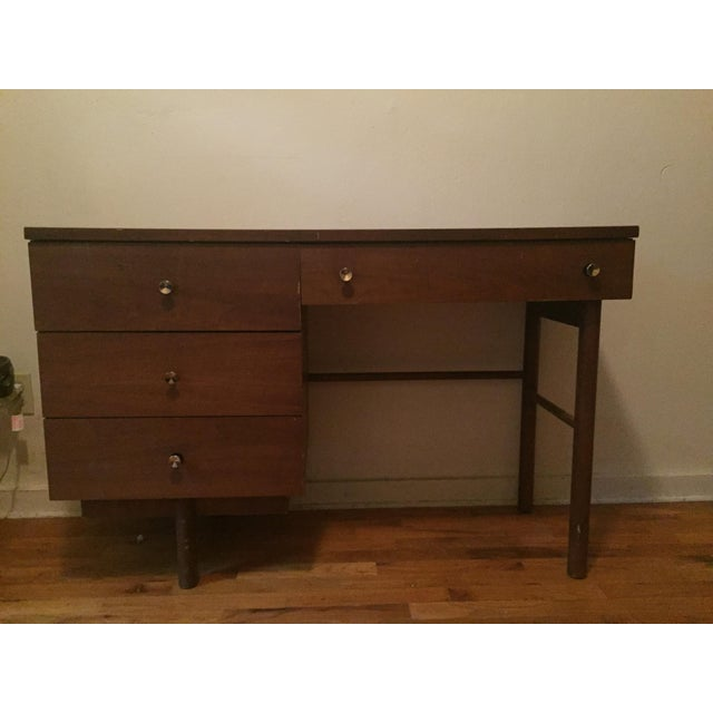Brown Stanley Mid-Century Modern Desk For Sale - Image 8 of 8
