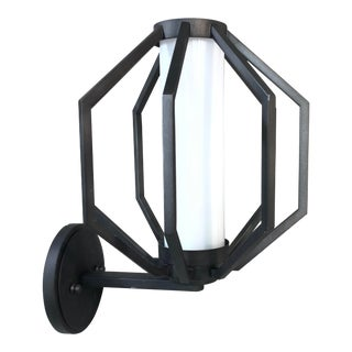 Troy Lighting Boundary Textured Outdoor Wall Light Lantern For Sale