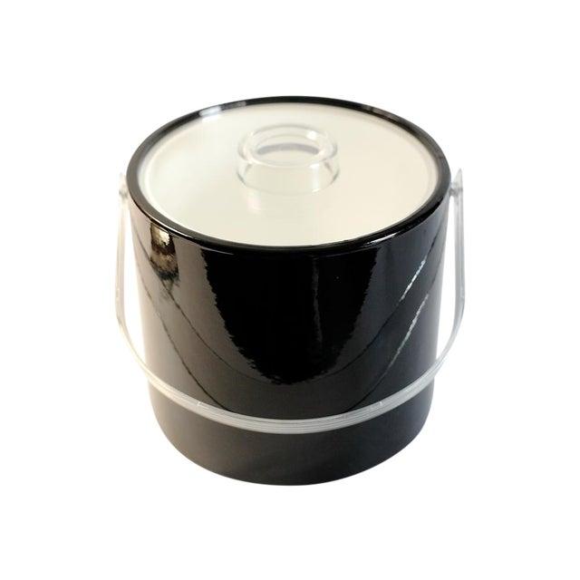Black & Lucite Ice Bucket - Image 1 of 7