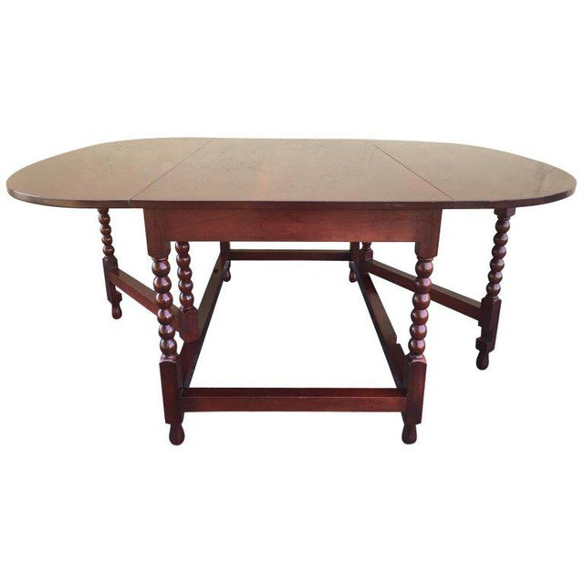 American Sheraton Cherry Acanthus Carved Drop-Leaf Table, Circa 1820 For Sale - Image 12 of 12