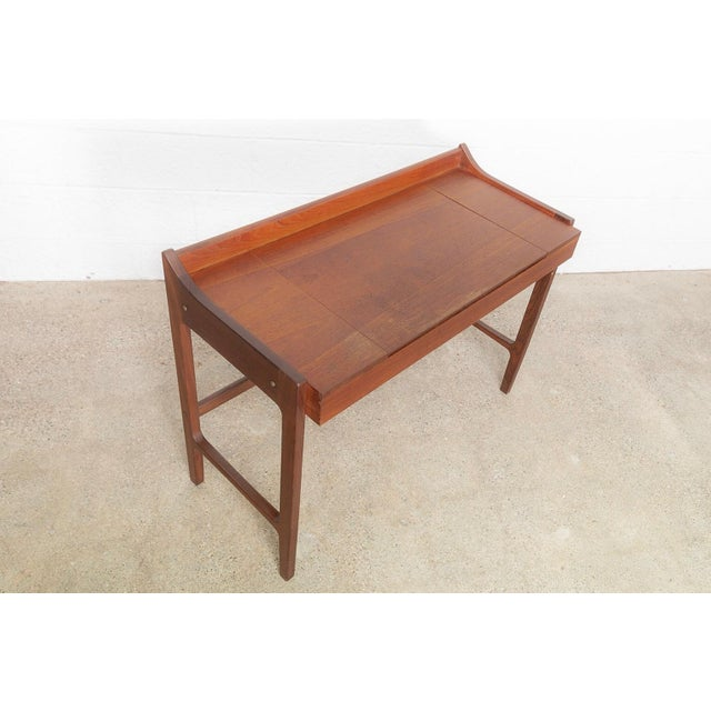 Danish Modern Teak Vanity Table For Sale - Image 9 of 12