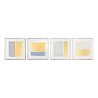 Gilded Bars Tetraptych - 20 X 20