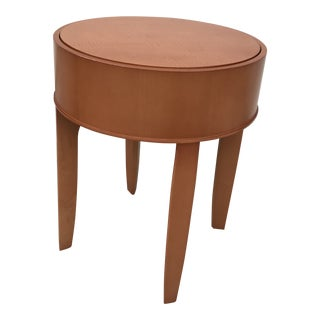 Modern Steelcase Round Maple Occasional Table For Sale