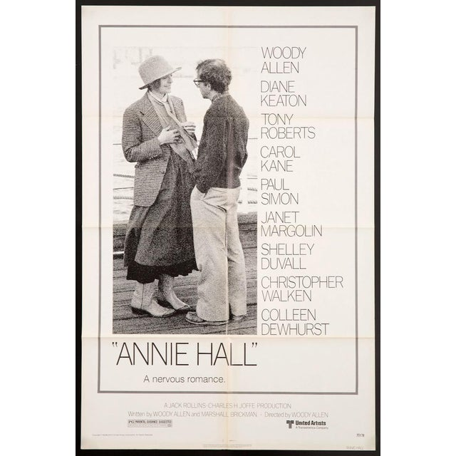"Modern Original Vintage 1977 ""Annie Hall"" Woody Allen Diane Keaton Film Poster For Sale - Image 3 of 3"