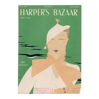 """Harper's Bazaar, April 1932."" Original Vintage Fashion Magazine Cover For Sale"