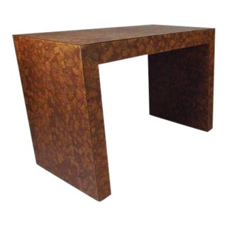 Vintage Modern Cork-Top Parsons Style Side Table For Sale