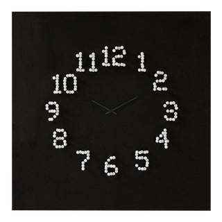 Modern Illusionistic Wall Clock For Sale