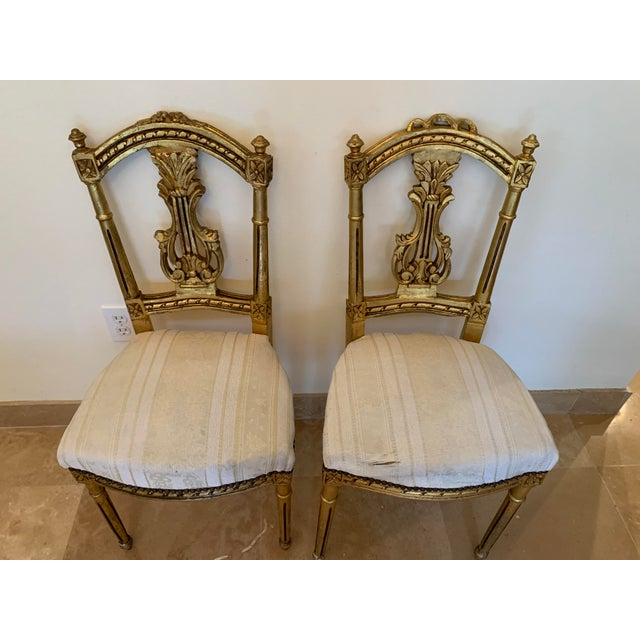 Antique French Neoclassical Louis XVI Lyre Chairs - a Pair For Sale - Image 11 of 13