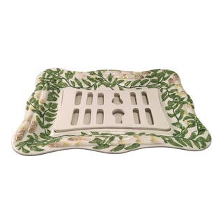 Vintage Italian Asparagus Serving Platter For Sale