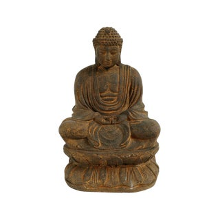 Cast Stone Sitting Buddha For Sale