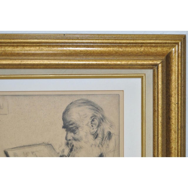 "Elias Grossman ""Quite Hour"" Etching c.1934 For Sale - Image 5 of 8"