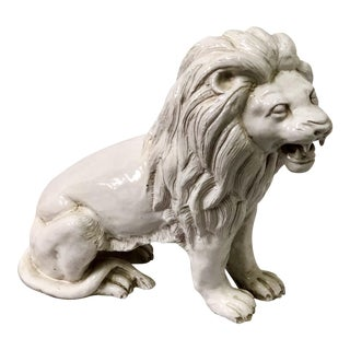 Italian Terracotta Lion For Sale