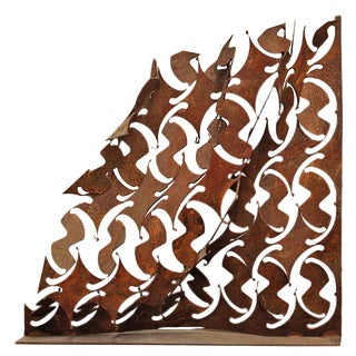 Abstract Wave Iron Sculpture For Sale