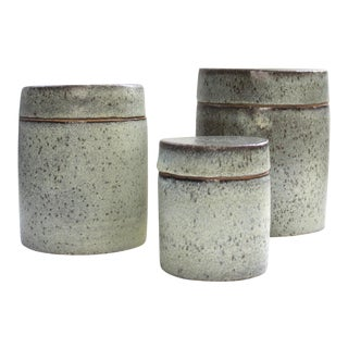 1970's Studio Pottery Canister Set - 3 Pc.