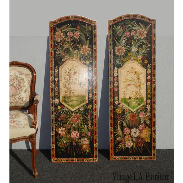 Gorgeous Panel Pictures in Great Vintage Condition. Solid and Firm. Wear is usual for their age. Please see photos....