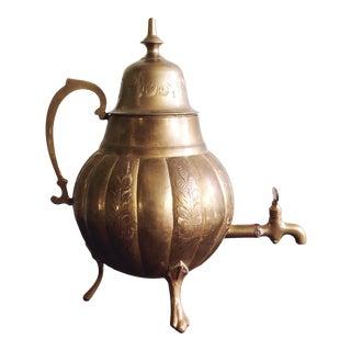 Vintage Brass Indian Samovar Tea Dispenser For Sale