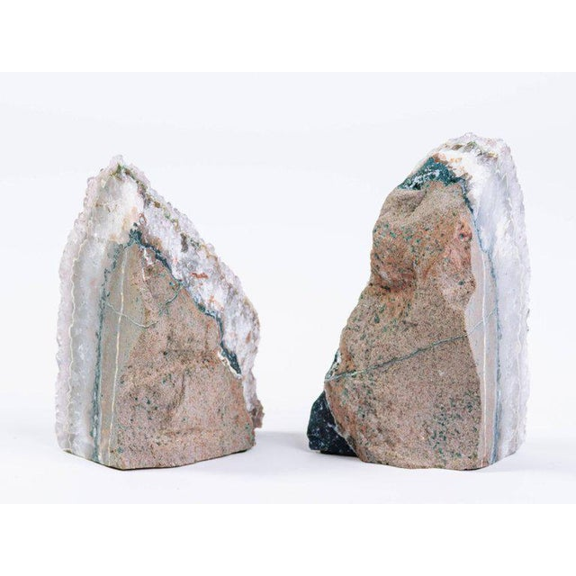 Pair of Organic Amethyst Crystal and Geode Bookends - Image 9 of 9