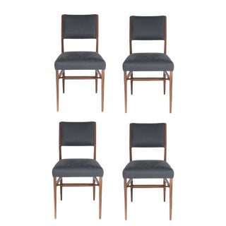 Set of 4 Maze Walnut Dining Chairs For Sale