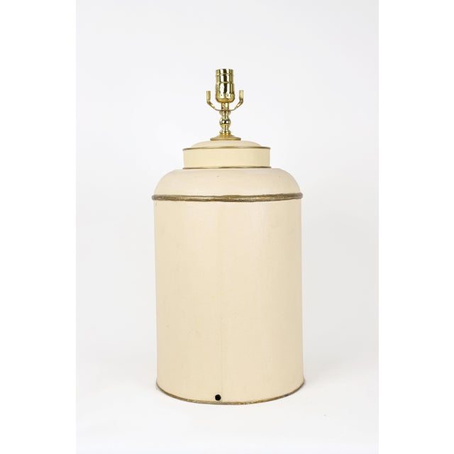 Mid 20th Century Mid-Century Modern Tole English Export Tea Caddy Lamp For Sale - Image 5 of 7