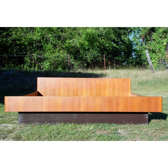 Danish Modern Teak King Platform Bed - Image 5 of 11