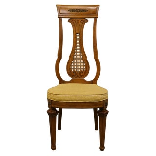 Late 20th Century Vintage Thomasville Furniture Villa d'Este Collection Italian Provincial Dining Side Chair For Sale