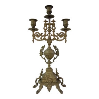 Victorian Brass Candle Holder