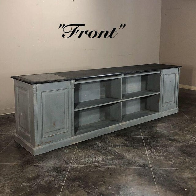 19th Century Painted Store Counter For Sale - Image 9 of 9