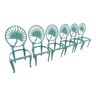 Newly Powder Coated Palm Frond Chairs - Set of 6