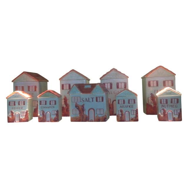 Vintage Mepco Ceramic Jars - Set of 9 - Image 1 of 5