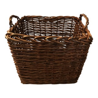 Large French Wicker Basket