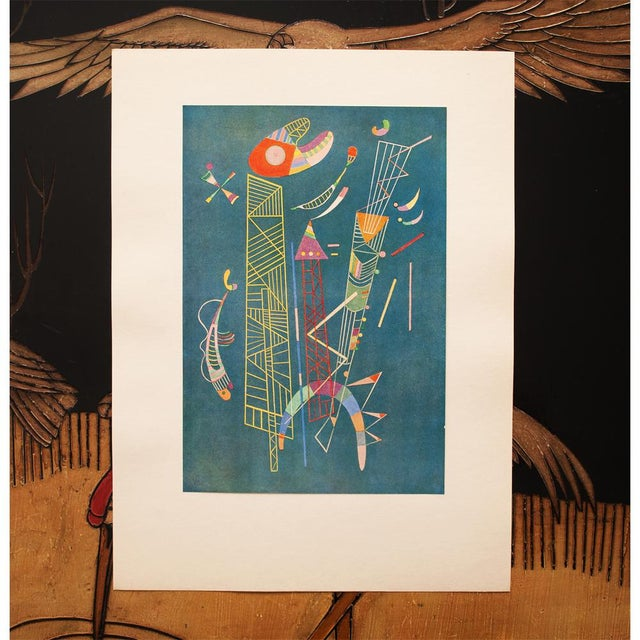 1940s 1947 Wassily Kandinsky, Construction Legere Parisian Plate For Sale - Image 5 of 10