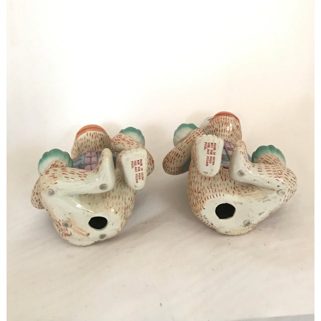 Vintage Chinese Ceramic Monkey Gardener Seated - a Pair For Sale - Image 10 of 11