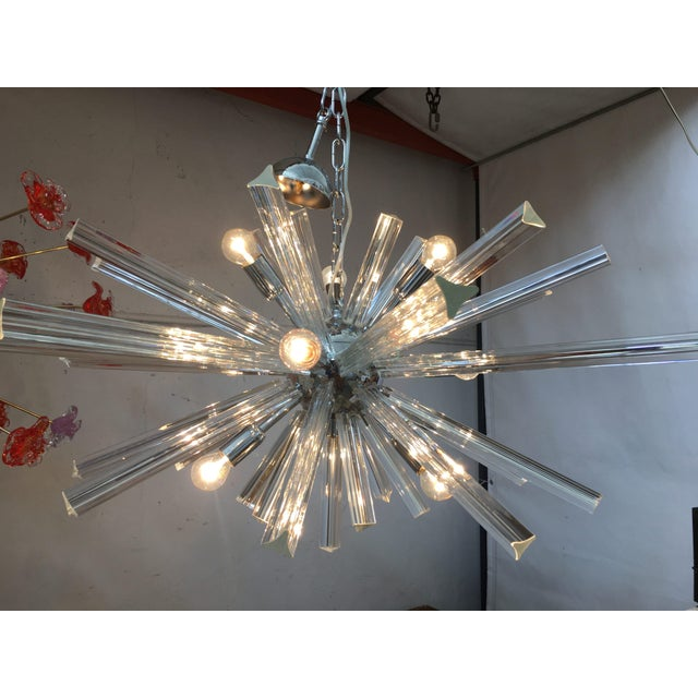Italian Murano Glass Sputnik Chandelier For Sale - Image 9 of 13
