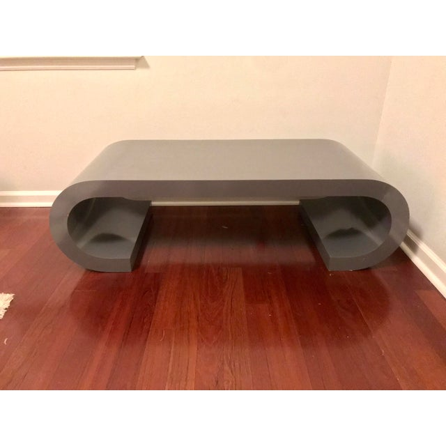Mid-Century Modern Scroll Coffee Table Attributed to Karl Springer For Sale - Image 11 of 11