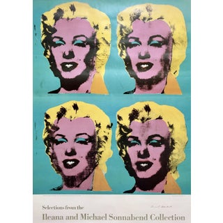 Andy Warhol 'Four Marilyns' 1985 Hand Signed Original Pop Art Poster For Sale