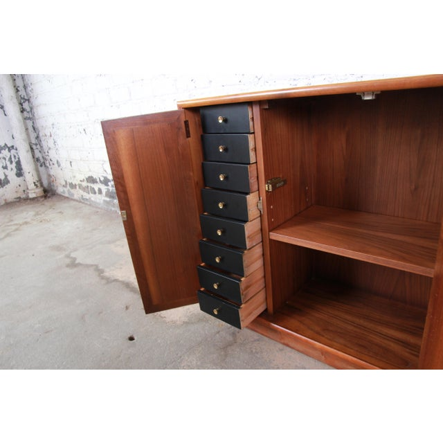 Wood Kipp Stewart for Drexel Declaration Mid-Century Modern Walnut Cabinet, 1965 For Sale - Image 7 of 12