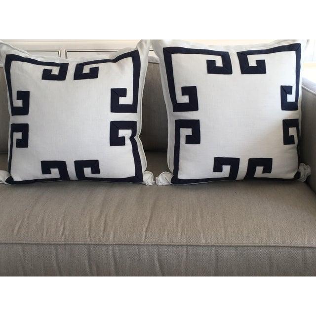 Ryan Studio Greek Key Design Pillows - A Pair - Image 3 of 4