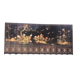 1900's Chinese 12 Panel Coromandel Screen For Sale