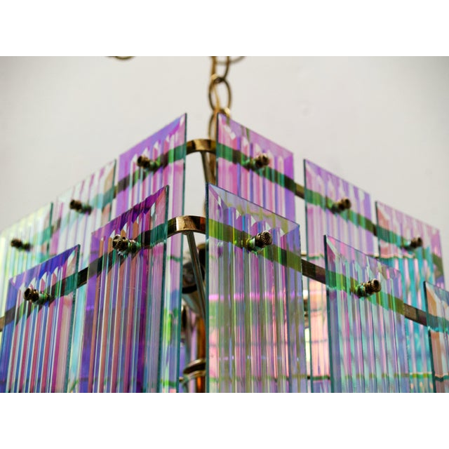 Dichroic Swag Chandelier - Image 3 of 7